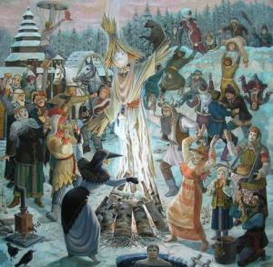 Из истории масленицы на руси