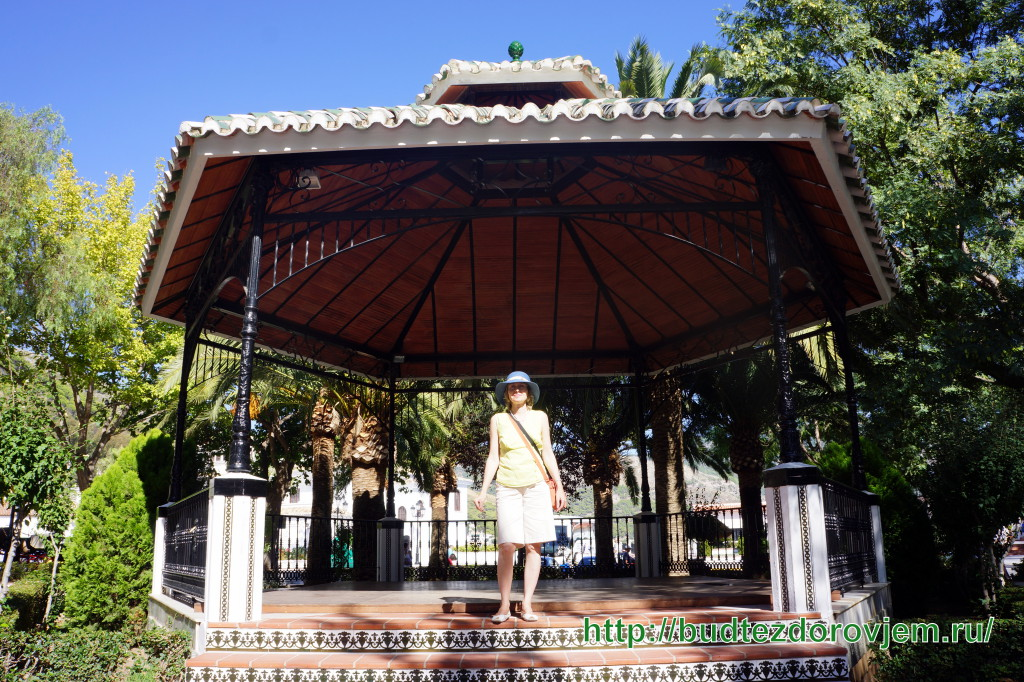 В беседке парка