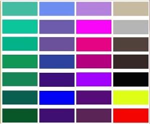 Цветовой шаблон зимы